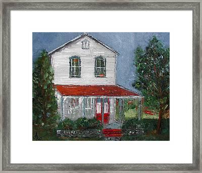 Old Farm House Framed Print by Anna Ruzsan