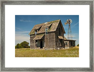 Old Farm House, Kansas Framed Print by Richard and Ellen Thane