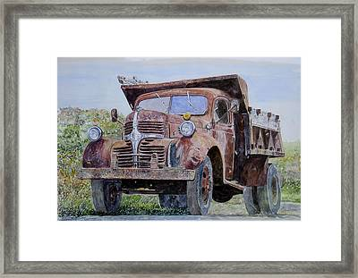 Old Farm Truck Framed Print by Anthony Butera