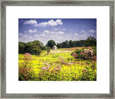 Old Farmhouse At Longwood Gardens Framed Print by Vicki Jauron