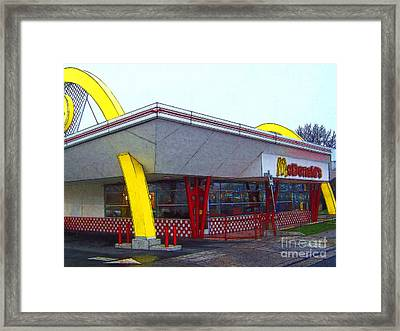 Old Fashion Mcdonalds Hamburger Restaurant Framed Print by Wingsdomain Art and Photography