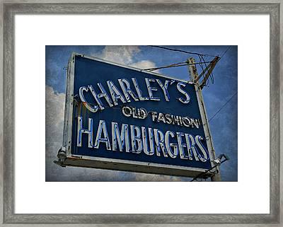 Old Fasion Hamburgers Framed Print by Stephen Stookey