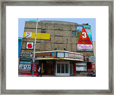 Old Film Theatre In Decay Framed Print by Nina Silver
