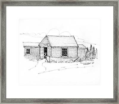 Old Fishermans Shack Monhegan Museum 1987 Framed Print by Richard Wambach