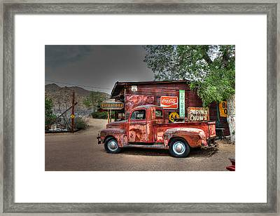 Old Ford Pickup On Route 66 Framed Print by Lynn Jordan