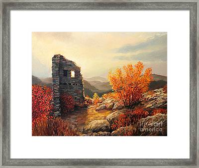 Old Fortress Ruins Framed Print by Kiril Stanchev