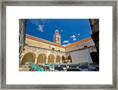 Old Franciscian Monastery Of Hvar Framed Print by Dalibor Brlek