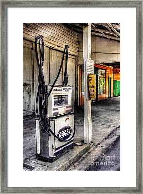 Old Fuel Bowser - Old Town Framed Print by Kaye Menner
