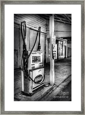Old Fuel Pump - Black And White 2 Framed Print by Kaye Menner