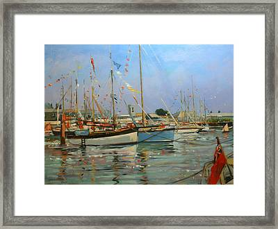 Old Gaffers  Yarmouth  Isle Of Wight Framed Print by Jennifer Wright