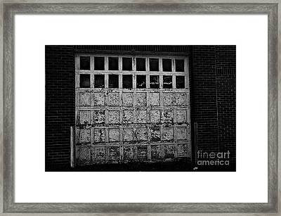 Old Garage In The Alley Framed Print by JW Hanley