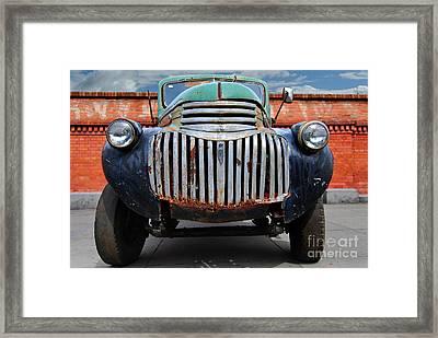 Old General Motors Truck Framed Print by Carlos Alkmin