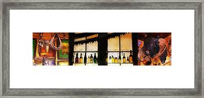 Old Genoa Bar Framed Print by Ron Regalado