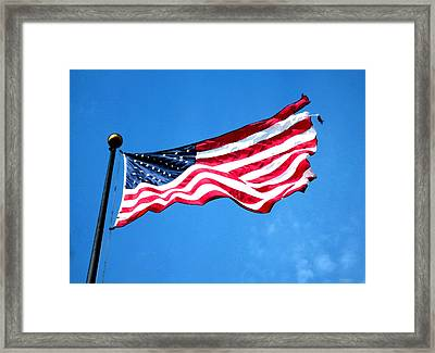 Old Glory - American Flag By Sharon Cummings Framed Print by Sharon Cummings