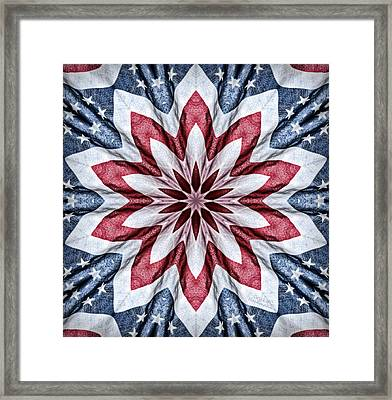 Old Glory Framed Print by Cricket Hackmann