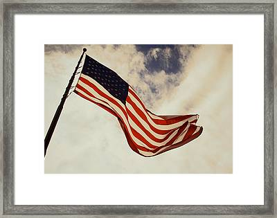Old Glory Framed Print by Tony Grider