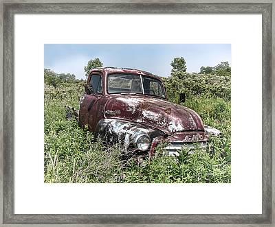 Old Gmc Truck Framed Print by Olivier Le Queinec