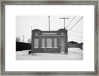 old government telephones telephone exchange building Kamsack Saskatchewan Canada Framed Print by Joe Fox