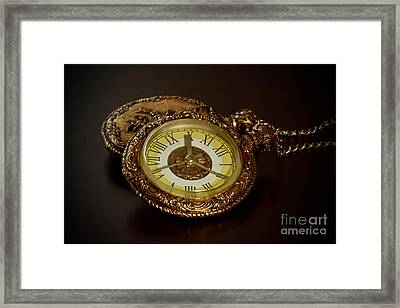 Old Grandfather Time Framed Print by Inspired Nature Photography Fine Art Photography