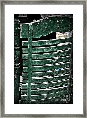 Old Green Chair Framed Print by JW Hanley