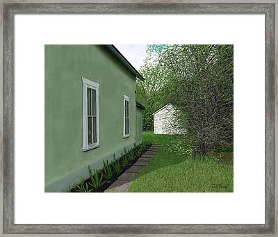 Old Green House Framed Print by Michelle Moroz-Chymy
