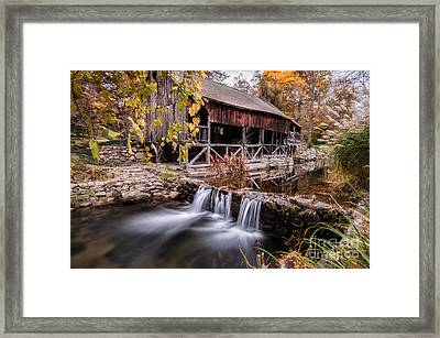 Old Grist Mill - Macedonia Connecticut  Framed Print by Thomas Schoeller