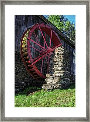 Old Grist Mill Vermont Framed Print by Edward Fielding