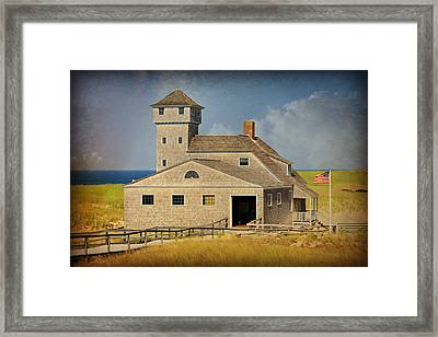 Old Harbor Lifesaving Station On Cape Cod Framed Print by Stephen Stookey