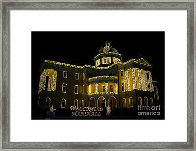 Old Harrison County Courthouse Framed Print by Kathy  White