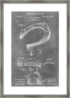 Old Horseshoe Patent Framed Print by Dan Sproul