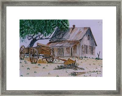 Old House Framed Print by Don Hand