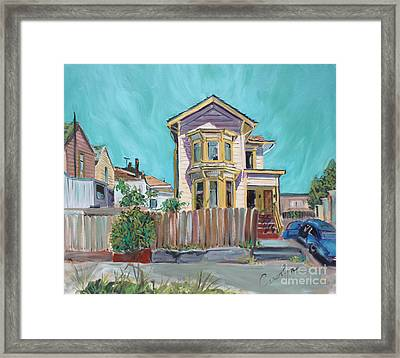 Old House In East Oakland Framed Print by Asha Carolyn Young