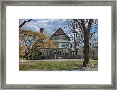 Old House On Haverford Campus Framed Print by Kay Pickens