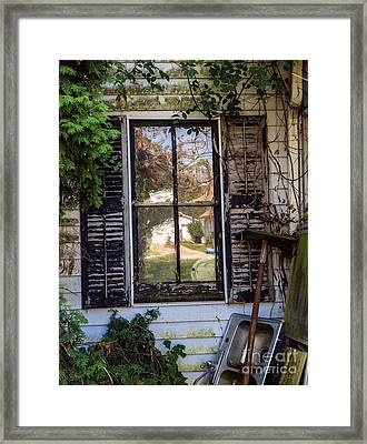 Old House Window Framed Print by Iris Richardson