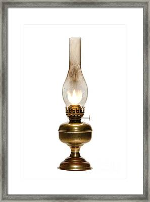 Old Hurricane Lamp Framed Print by Olivier Le Queinec