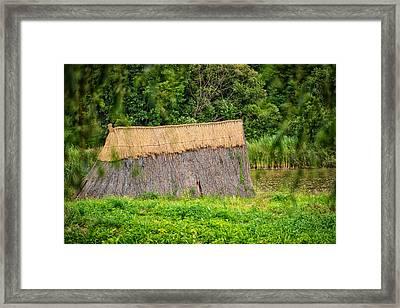 Old Hut Framed Print by Dobromir Dobrinov