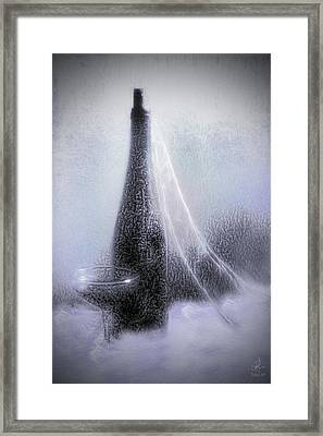 Old Ice Wine Framed Print by Pennie  McCracken