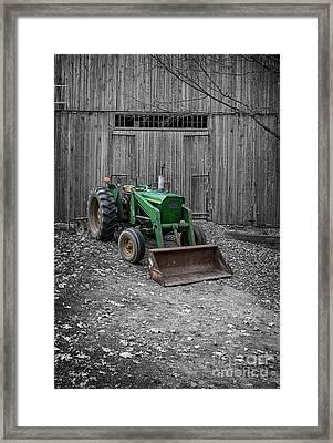 Old John Deere Tractor Framed Print by Edward Fielding