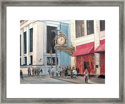 Old Kaufmann's Clock Framed Print by C Keith Jones