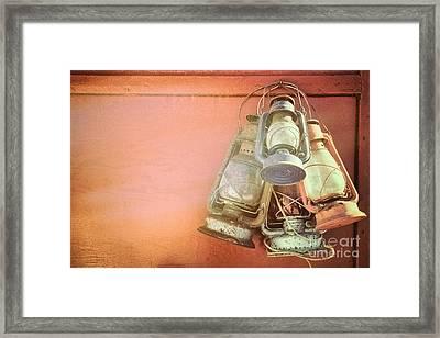 Old Kerosene Lanterns Framed Print by Jane Rix