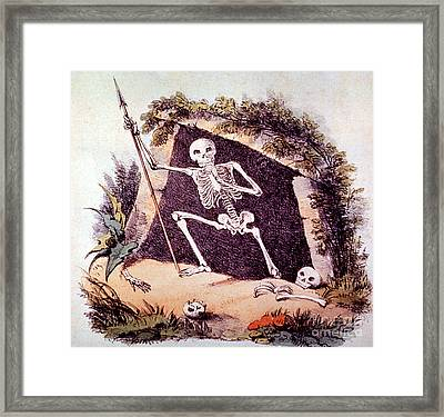 Old King Death 1827 Framed Print by Photo Researchers