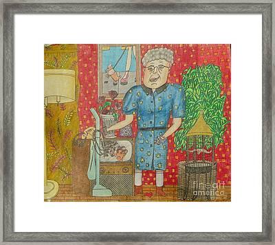 Old Lady Framed Print by Juliet Sarah Marx