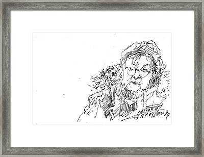 Old Lady Framed Print by Ylli Haruni
