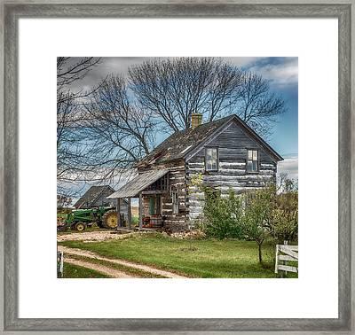 Old Log Cabin Framed Print by Paul Freidlund