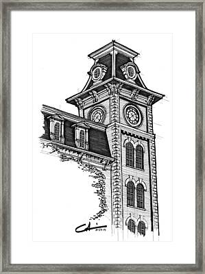 Old Main Framed Print by Calvin Durham