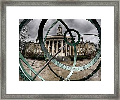 Old Main Through The Armillary Sphere Framed Print by Mark Miller