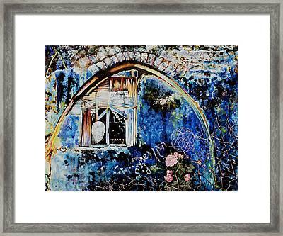 Old Man And Roses Hazaken Veshoshanim Framed Print by Nekoda  Singer