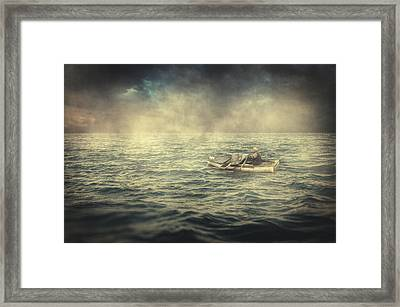 Old Man And The Sea Framed Print by Taylan Soyturk