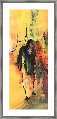 Old Man In Morocco Framed Print by Miki De Goodaboom