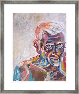 Old Man In Time Framed Print by John Ashton Golden